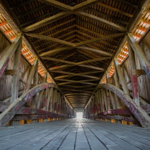 The Medora Covered Bridge off State Road 235 in Medora.